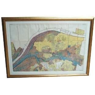 PLAT MAP OF PITTSBURGH. N/R. Color map