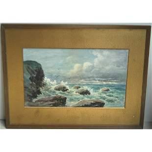 T.WILKINSON: SEASCAPE. WATERCOLOR.N/R.
