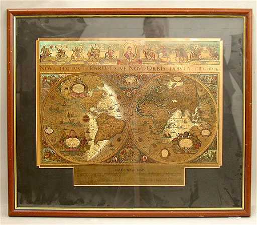 Blaeu World Map.1082 Blaeu Wall Map Of The World Reproducti