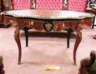 BOULLE STYLE WRITING TABLE. N/R. Louis