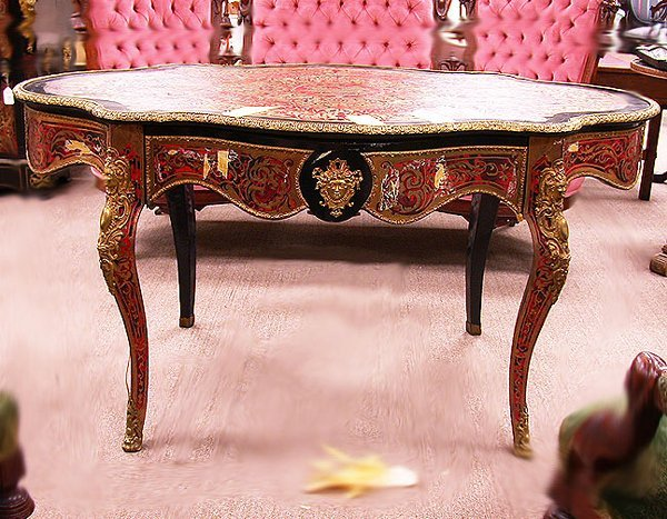 2006: BOULLE STYLE WRITING TABLE. N/R. Louis