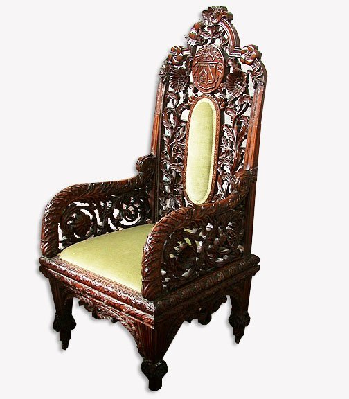 2015: SCOTTISH CARVED CHAIR. N/R. Wood. Carve
