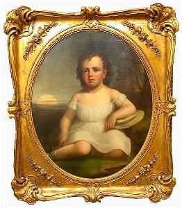 2568: JOHN I. WILLIAMS PORTRAIT. 19th c. Oil