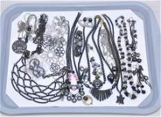 25 PIECE LOT OF ASSORTED HEMATITE AND ENAMEL