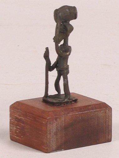 1022: AFRICAN METAL SCULPTURE