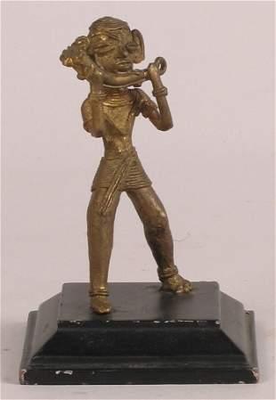INDIAN BRASS MUSICIAN