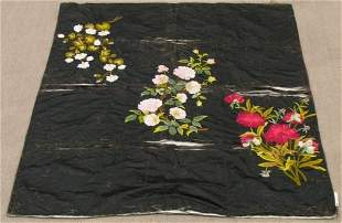CHINESE SILK COVERLET