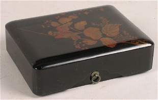 LACQUER BOX WITH BIRD
