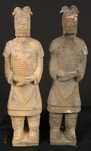 2 CHINESE TOMB FIGURES