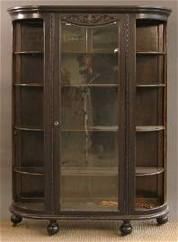 1795: CURVED GLASS CHINA CABINET