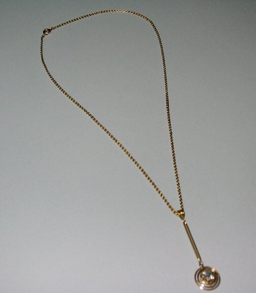 5: 14K GOLD & DIAMOND LAVALIERE