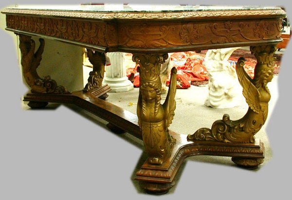 2012: NEOCLASSIC MARBLE TOP TABLE.