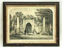 2524: CURRIER & IVES WASHINGTON TOMB