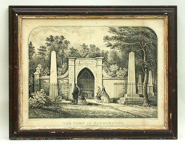 CURRIER & IVES WASHINGTON TOMB