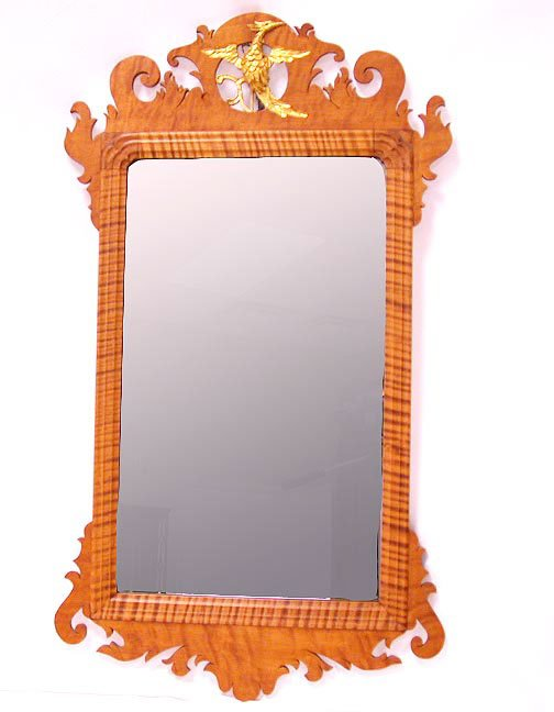 3005: CHIPPENDALE STYLE FRETWORK MIRROR. N/R.