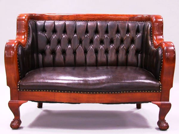 3014: SECOND EMPIRE SETTEE.  Late 19th cent.