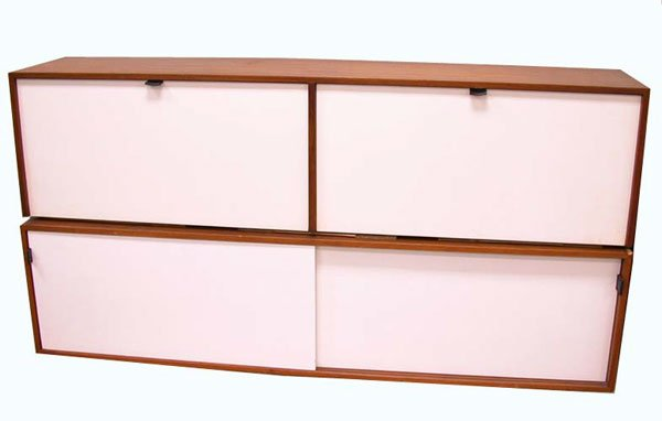 3021: CONTEMPORARY WALL MOUNTED CABINETS.  N/