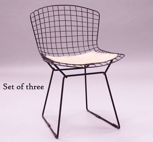 3024: HARRY BERTOIA SIDE CHAIRS N/R. Made by