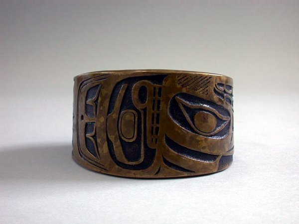 9: NATIVE CUFF BRACELET N/R. Metal bracelet h
