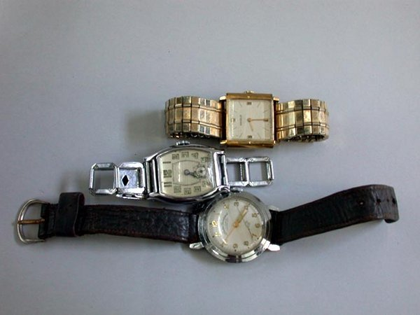 23: THREE MEN'S WATCHES N/R. One is a Benrus