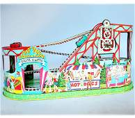 1288 CHEIN TOY ROLLER COASTER NR Tin lith