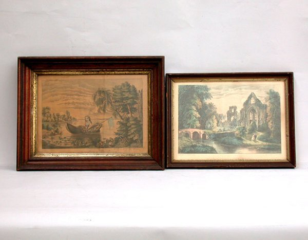 1486: PAIR OF CURRIER AND IVES. 19th c. Black