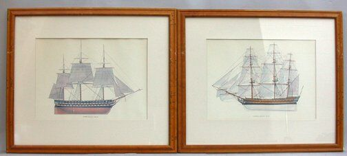 1524: PAIR OF SHIP POSTERS. 20th c. Posters i