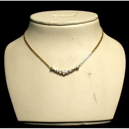 2023: 14K DIAMOND NECKLACE. The necklace has