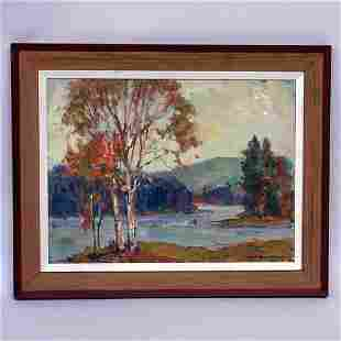 EARL W. NORTH; VERMONT PAINTING