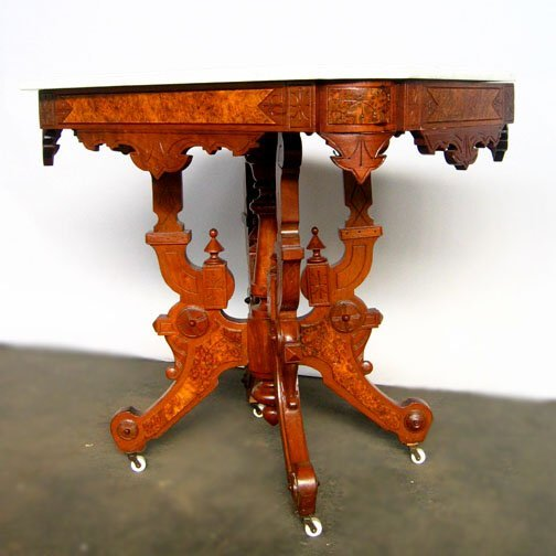 2790: 19TH C. MARBLE TOP TABLE