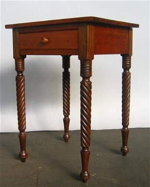 MID 19TH C. ONE-DRAWER NIGHT STAND.