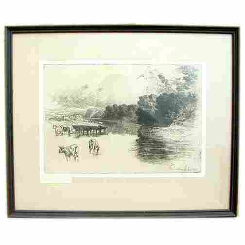 SEYMOUR HADEN ETCHING. Dated 1881