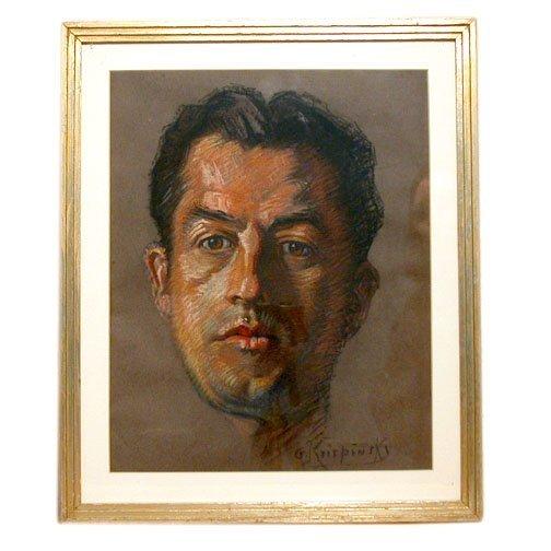 925: G. KRISPINSKY PASTEL PORTRAIT