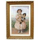 993 CHILD WITH DOLL PASTEL