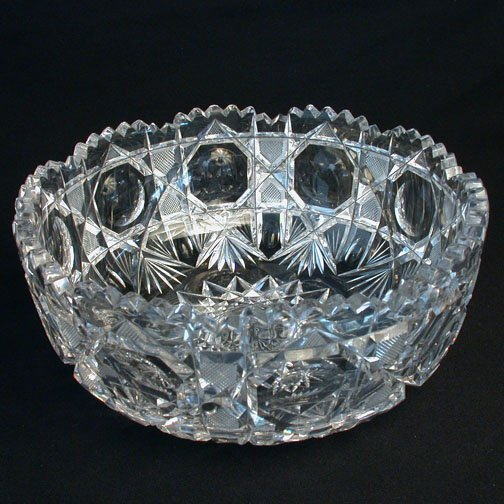 2024: CUT AND ENGRAVED GLASS BOWL