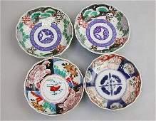 2603: FOUR IMARI BOWLS Four assorted Japanese