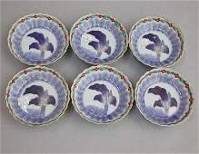 2604: 6 IMARI BOWLS. Set of six Japanese Imar
