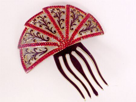 2614: VICTORIAN STYLE HAIR COMB