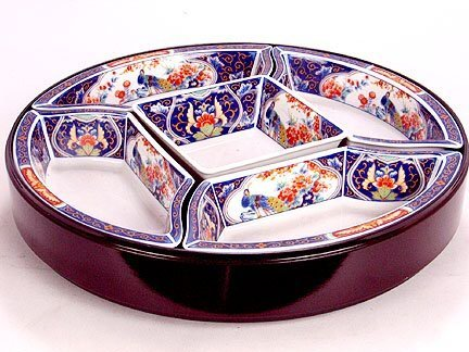 2615: LAZY SUSAN WITH FIVE DISHES