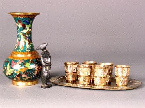 2636: LOYT ORIENTAL ITEMS. 1. Cloisonne vase,