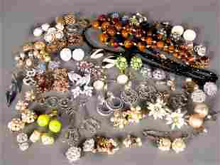 ASSORTED COSTUME EARRINGS. Lot includes over fift