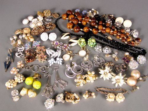 3221: ASSORTED COSTUME EARRINGS. Lot includes over fift