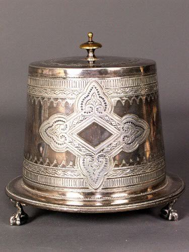 3231: ENGLISH SILVER LIDDED CONTAINER. Victorian silver