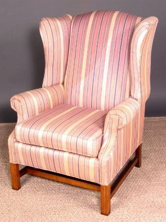 3311: PENNSYLVANIA HOUSE WING CHAIR. Chippendale style