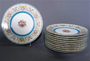 11 LIMOGES PLATES. 11 dinner plates, 10 3/4'' dia