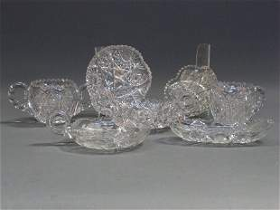 7 PIECES CUT GLASS. 7 unsigned cut glass items. 1