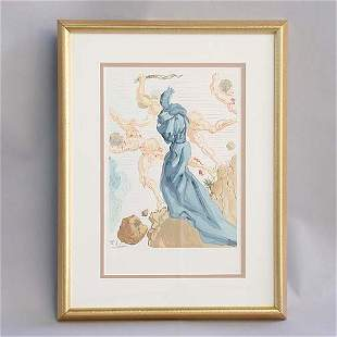 """1005 DALI LITHOGRAPH. Canto 15 from """"In"""