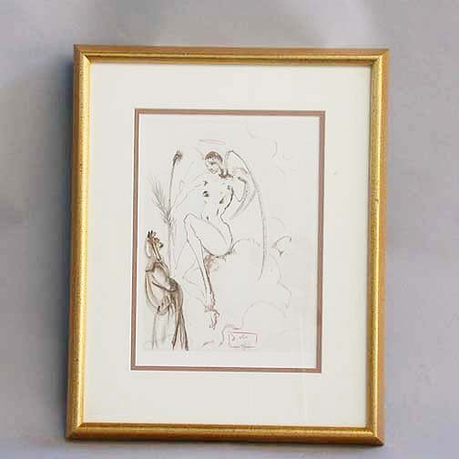 1010: 1010 DALI LITHOGRAPH. Canto 31 from Dan