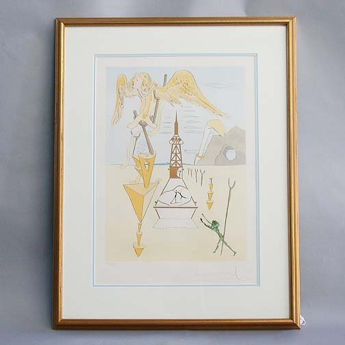 1014: 1014 DALI ENGRAVING & LITHOGRAPH. Angel