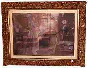 1023 PRINT OF LADIES AND COURTING SOLDI